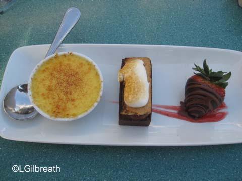 Ariel's Grotto dessert platter