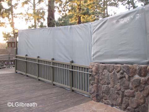 Hungry Bear construction walls