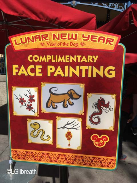 Lunar New Year 2018 face painting