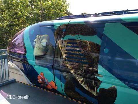 Pixar Fest monorail blue