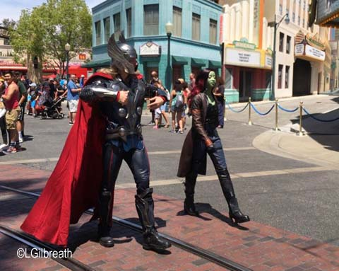 Thor and Gamora Hollywood Land