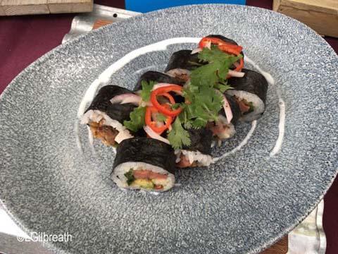 Lamplight Lounge Carne Asada Sushi