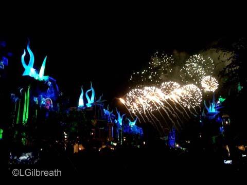 Disneyland Forever Mermaid fireworks