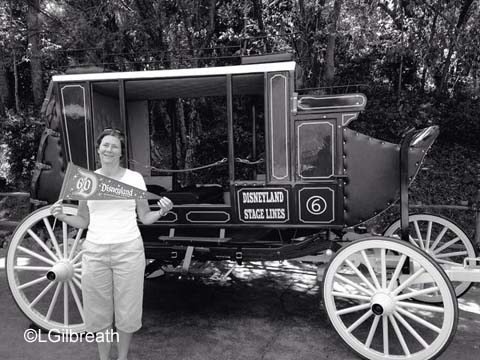 Disneyland 60th stagecoach photo spot