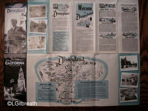 Disneyland and DCA 7/17/15 park maps