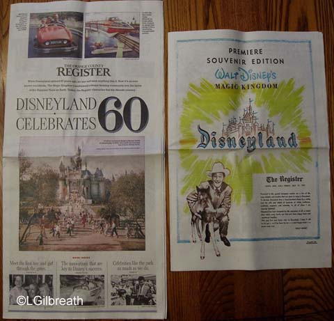 Disneyland 60th OC Register souvenir edition