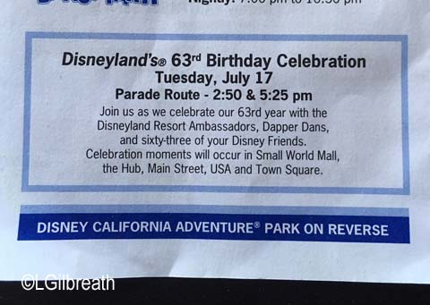 Disneyland Times Guide