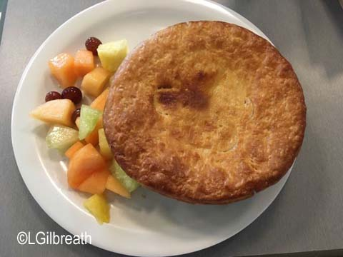 Flo's V8 Cafe vegetarian pot pie