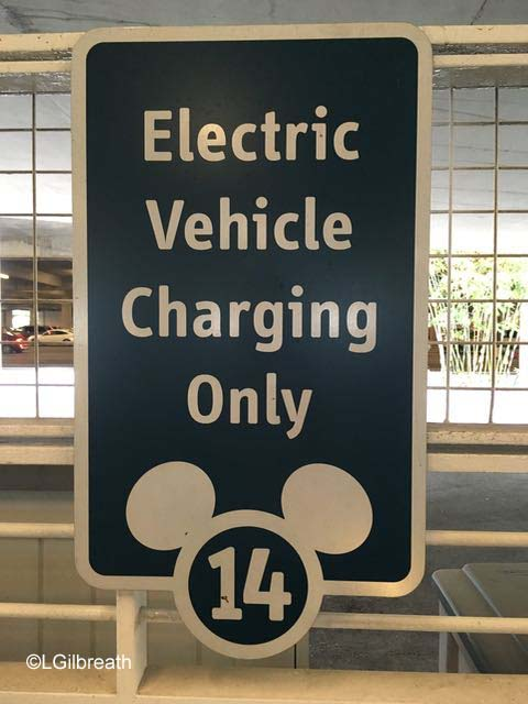 Disneyland Electric Vehicle Charging