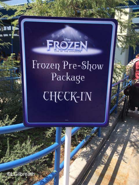 Frozen Pre-show check-in