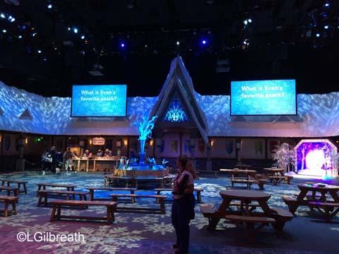 Frozen Pre-show interior