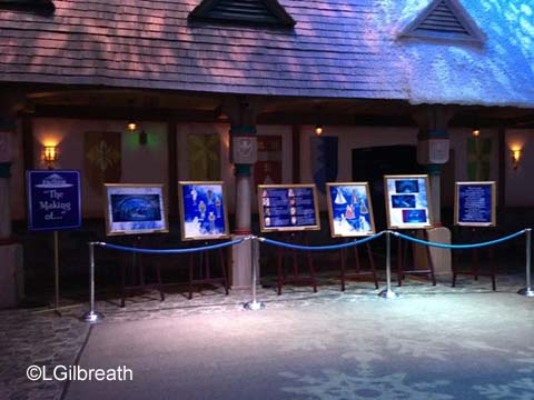 Frozen Pre-show display