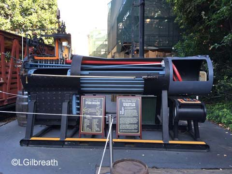 Disneyland train steam boiler