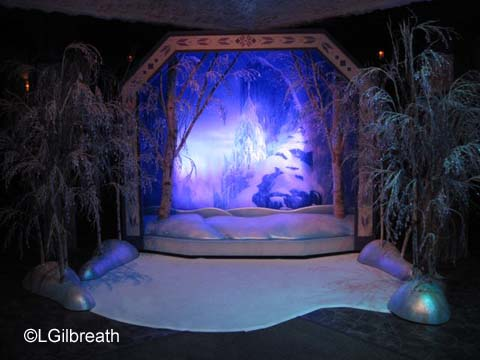 Frozen Pre-show photo backdrop
