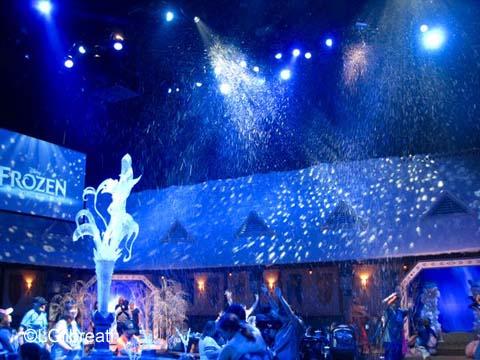 Frozen pre-show snowfall