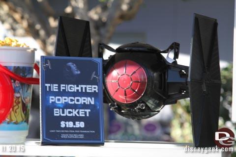 Season of the Force TIE Fighter popcorn bucket