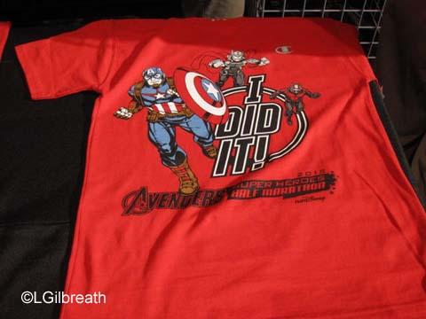 Avengers Half Marathon shirts