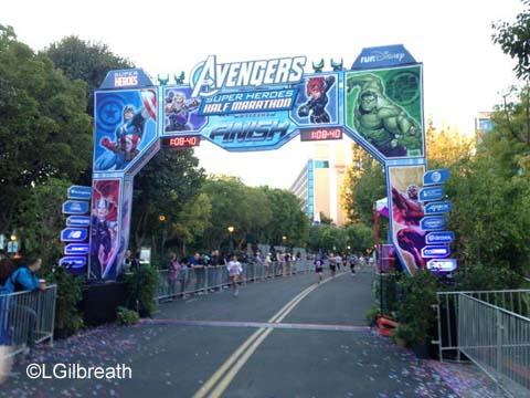 Captain America 10K finish line