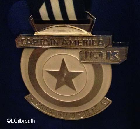 Captain America 10K medal
