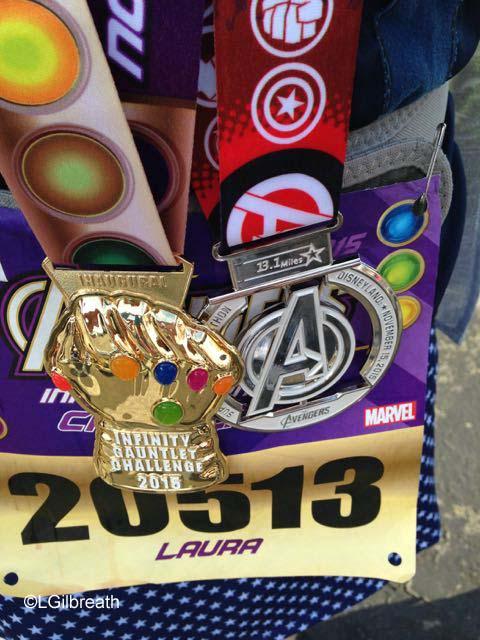 Avengers Half Marathon finisher medal