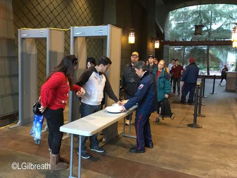 Grand Californian Security checkpoint