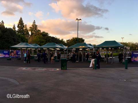 Downtown Disney security checkpoint