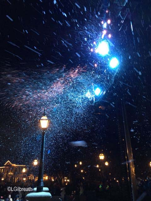 snow in New Orleans Square