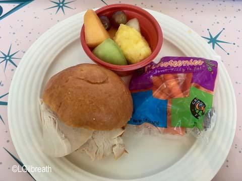 Flo's V-8 Cafe Kids Turkey sandwich