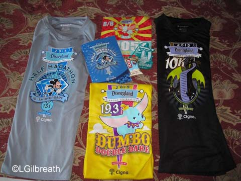Disneyland 10th Half Marathon Race Shirts
