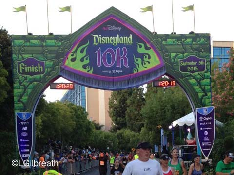 Disneyland 10K Finish Line