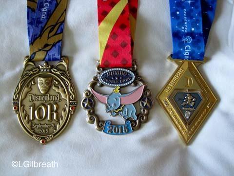 Disneyland 10th Annual Half Marathon medals