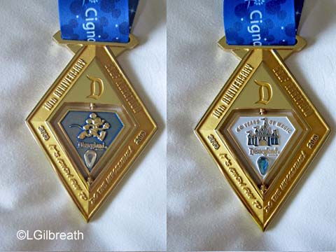 Disneyland 10th Annual Half Marathon medal