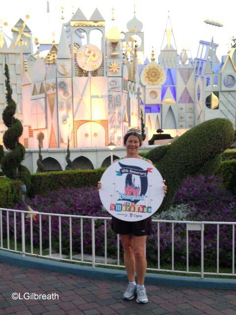 Disneyland 10th Annual Half Marathon signs