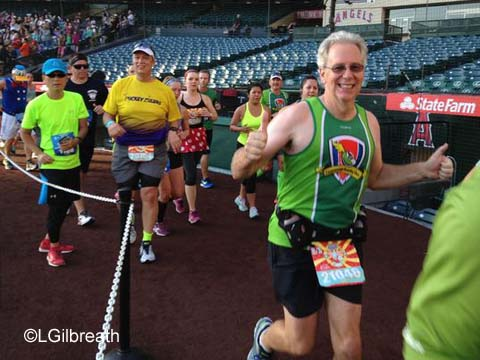 Disneyland 10th Annual Half Marathon Angel Stadium
