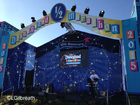 Disneyland 10th Annual Half Marathon stage