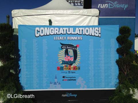 Disneyland 10th Annual Half Marathon Legacy runners