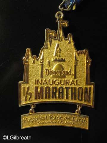 Disneyland Half Marathon Inaugural medal