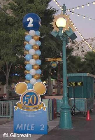 Disneyland Inaugural Half Marathon Mile Marker