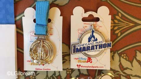 Disneyland Paris Half Marathon medal pins