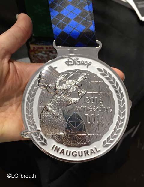 runDisney Inaugural Wine and Dine 10K medal