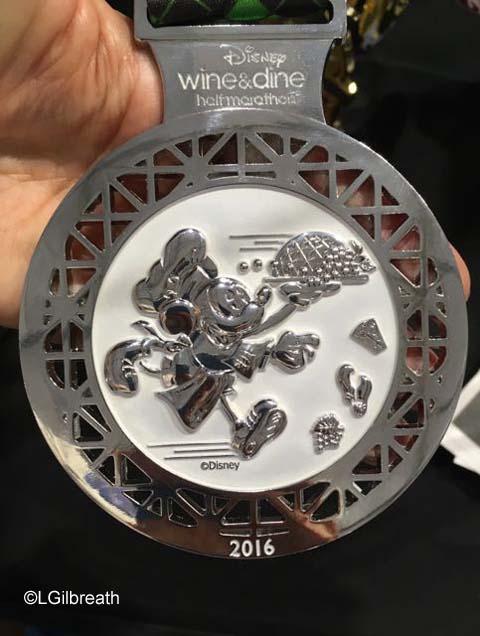 runDisney 2016 Wine and Dine Half Marathon Medal