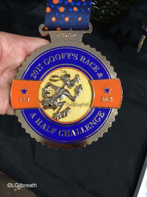 runDisney 2017 Goofy Challenge Medal