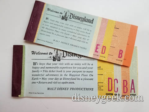 Disneyland Ticket books