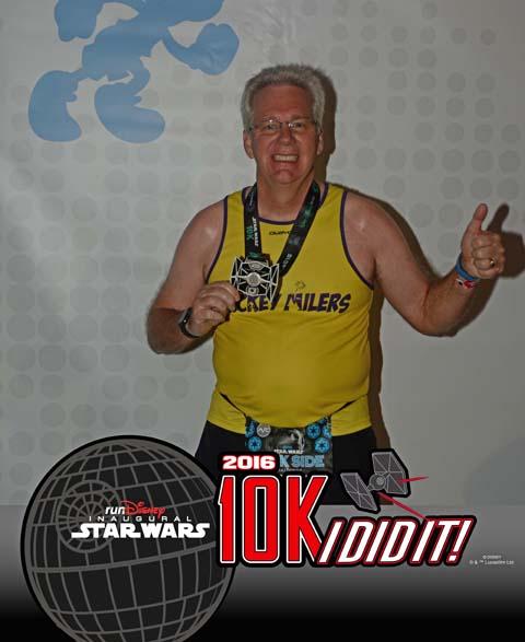 Star Wars Dark Side 10K finish photo