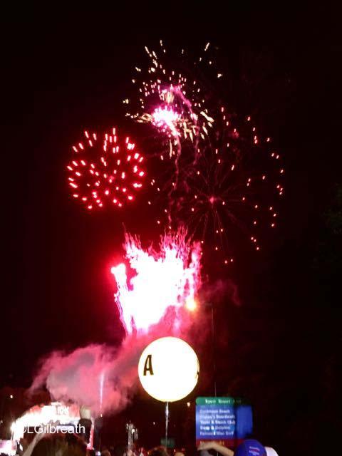 Star Wars Dark Side 10K fireworks