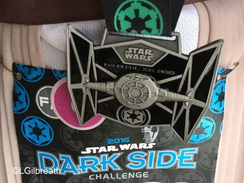 Star Wars Dark Side 10K medal