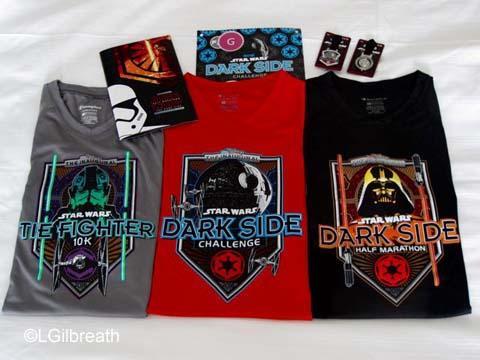 Star Wars Dark Side race shirts