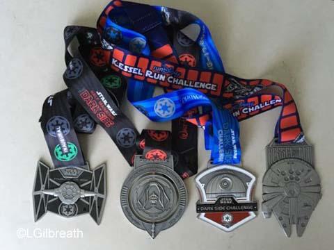 Star Wars Dark Side Half Marathon medals