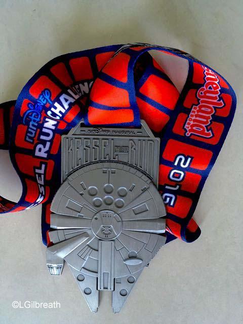 Star Wars Dark Side Half Marathon Kessel Run Medal
