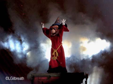Fantasmic 2017 Sorcerer Mickey